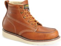 Carolina Boot CA7502 Amp Moc Toe Wedge Sole Steel Toe Tan