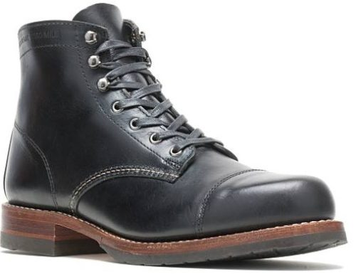 Wolverine 1000 Mile Black Cap Toe